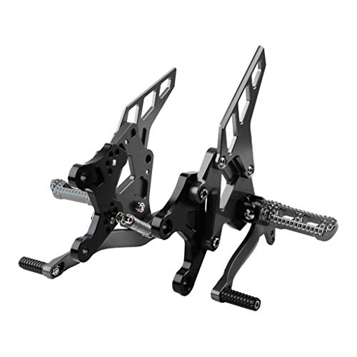 Preisvergleich Produktbild Motorrad Fußstütze Fußrastenpedal Fußrasten Halterung Kit aus CNC Aluminium Rearset Rear Set für Kawasaki Z900 2017 - Grau,  32x25x24cm