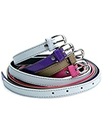 Contra Women's Nylon Combo Belt Set (KBH-B133, Small, White, Purple, Fone, Pink)-Set of 4