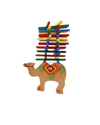 Magic-Elefant Montessori Stapel Spielzeug aus Holz zum Geschicklichkeit lernen mit