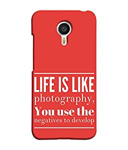 Fuson Designer Back Case Cover for Meizu M3 Note :: Meizu Note 3 (Use Negatives To Develop Typography Life Motivation)