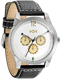 The House Of Marley Billet Leather - Reloj (Reloj de pulsera, Acero inoxidable, Plata, Cuero, Negro, Transparente)