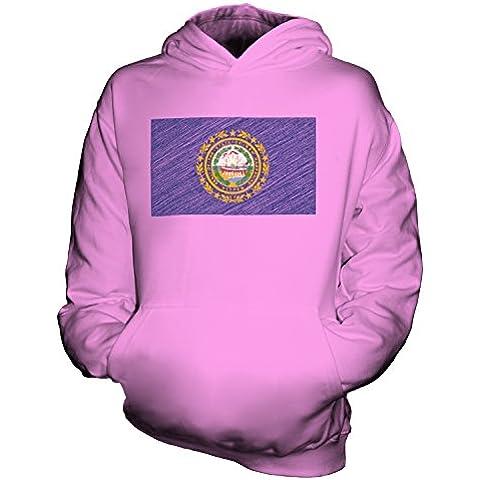 CandyMix Stato Del New Hampshire Bandiera Scarabocchio Unisex Bambino Ragazzi/Ragazze Felpe con Cappuccio