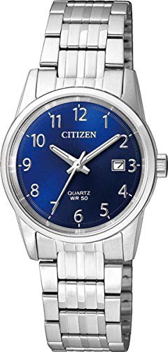 Citizen Damen Analog Quarz Uhr mit Edelstahl Armband EU6000-57L (Uhr Citizen Silber Damen)
