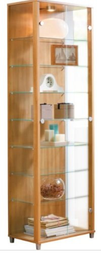 oak-double-door-glass-display-cabinet-with-4-moveable-glass-shelves-spotlight