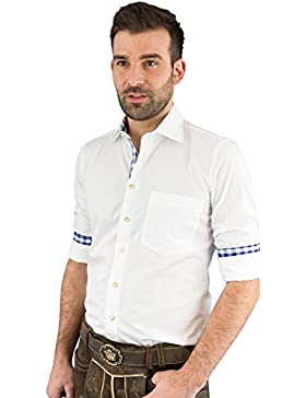 Almsach Trachtenhemd Herren langarm LF100 white-jeans