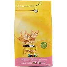 Friskies Junior pienso para el Gato, con Pollo, Leche y Verduras aggiunte, 1.5