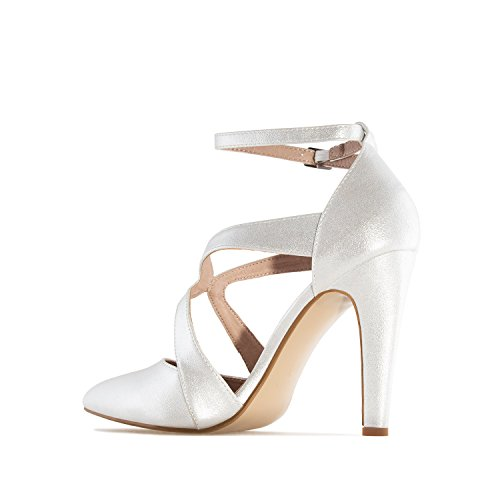 Andres Machado - AM5194 - Damenpumps in Soft Weiss AM5194 SOFT SILBER