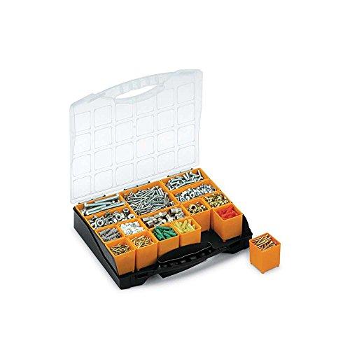 Preisvergleich Produktbild arroweld Terry Bins Organizer Koffer Sortimentskasten Kunststoff Base schwarz Deckel transparent Doppel Verschluss 16Saatschalen Abnehmbare Aufbewahrungsbox Griff Transport