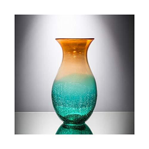 Glas-top-esstisch (MSH Glasvase Europäischen Farbverlauf Kreative Retro Heimwerker Esstisch Top Blumenvase (Size : 19cm*36cm))