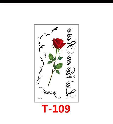 LFVGUIOP Blumen Rose Lotus Design Mode temporäre Tätowierung Aufkleber temporäre Körperkunst wasserdicht Tattoo Muster Großhandel pcs 3