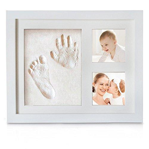 Baby Handabdruck, Migimi Baby Bilderrahmen für Handabdruck und Fussabdruck der personalisierter Baby-Bilderrahmen, und keine giftigen, sicheren Abdruckmasse