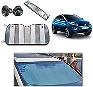 Torix Car sunshade window UV Protection, Wind shield summer Front visor Aluminium foil double sided 130 Cm X 6