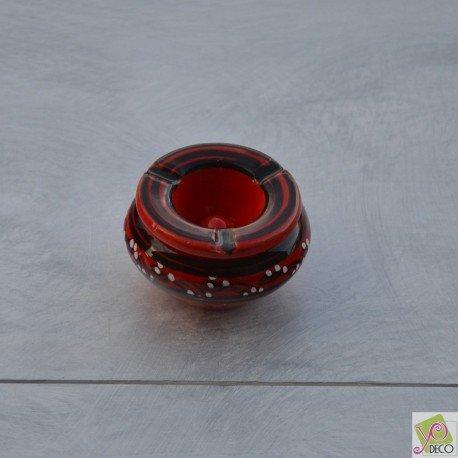 Yodeco - Cendrier marocain anti fumée Tatoué rouge - Mini modèle