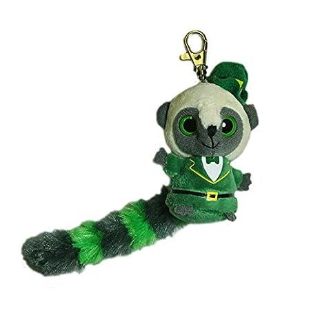 Irischer Yoohoo-Schlüsselanhänger im irischen Anzug und Kobold-Hut
