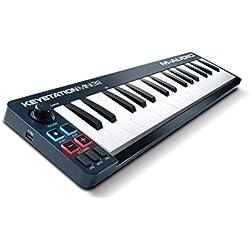 M-Audio Keystation Mini 32, Teclado MIDI y controlador USB con teclas sensibles a la intensidad para DAW e instrumentos virtuales, con Ableton Live Lite e Ignite