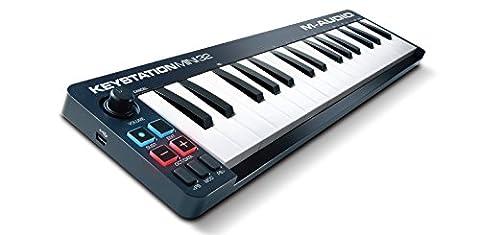 M-Audio Keystation Mini 32 II Clavier-Maître USB MIDI avec 32 Touches Dynamiques Sensibles à la Vélocité + Ignite de AIR Music Tech et Ableton Live Lite