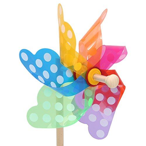 Senoow Bunte Windrad Wind Wind Spinner Windmühle Hausgarten Hof Decor Kinder Spielzeug Geschenk -