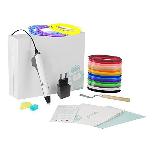 Stylos d'impression 3D, INKERSCOOP Imprimante 3D stylo pour Amateur de Graffiti Artisanat 3D Non-Toxique Compatible avec Filament en PCL & PLA + 5mm Filament,Cadeaux de Noël pour Enfant
