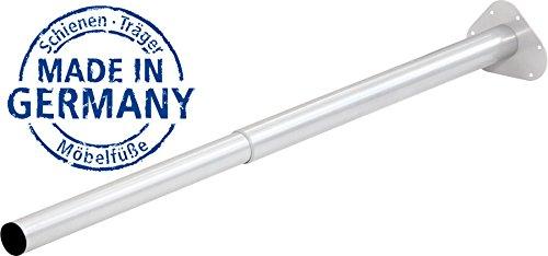 IB-Style - Einzel- Teleskop-Tischbein | ohne Befestigungsschrauben | 6 Variationen | Höhenverstellbar | Ø 50 mm, Form: Rund | Weiss | 80-120 cm