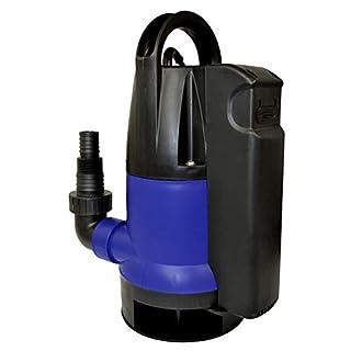 Amur Schmutzwasser-Tauchpumpe Dirt-Star-Extra-SS 550-1 als Gartenpumpe zum Bewässern und als Kellerpumpe zum Entwässern mit integriertem Schwimmerschalter, 10m Kabel