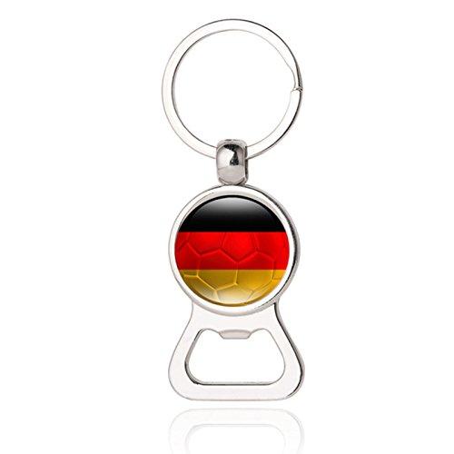 Ruimin 2018 Fußball Team Schlüsselanhänger Bierflaschenöffner, tragbares Werkzeug für Küche, Bar Helfer, 32 Länder Stil für Gedenk, Geschenk 9# Deutschland