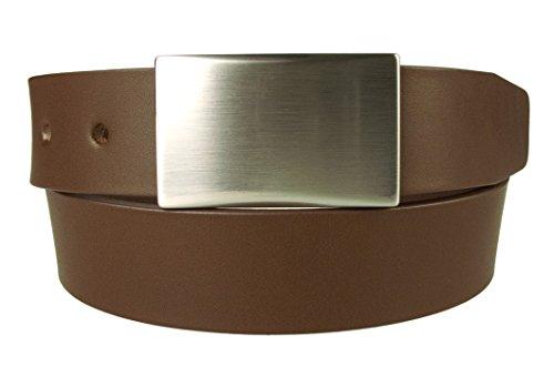 Belt Designs Taille 86.5-96.5 cm (M) - Marron - Ceinture en cuir de qualité pour Homme Fabriqué au Royaume-Uni - (0029)