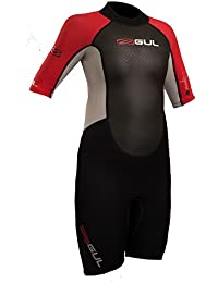 b73887a5cf6 Gul 2018 Response Junior 3 2mm Shorty Wetsuit Black Red RE3322-B4 Junior