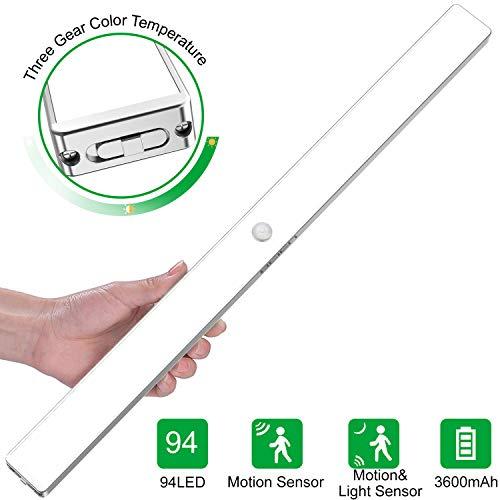 BEIEN luces del armario con sensor movimiento