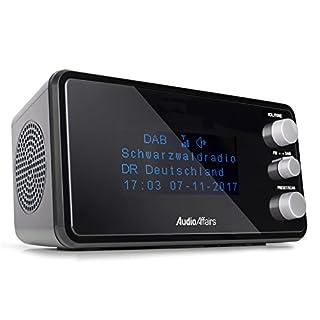 AudioAffairs Digitaler Radiowecker DAB+ | UKW/FM | dimmbares Display | Wecker mit Radio oder Alarmton | Snooze Funktion und Einschlafautomatik