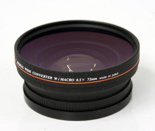 2in1 Adapter 72mm Weitwinkel Konverter mit Makro Linse für alle Kameras mit 72mm Anschlussgewinde