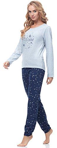 Merry Style Damen Schlafanzug 965 Muster-F1B