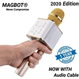 MAGBOT Advance Handheld Wireless Singing Mike Multi-function Bluetooth Karaoke Mic with Microphone Speaker For All Smart Phones