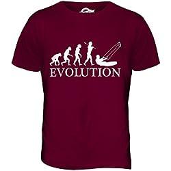 Candymix Kitesurf Évolution T-Shirt Homme, Taille Medium, Couleur Bordeaux