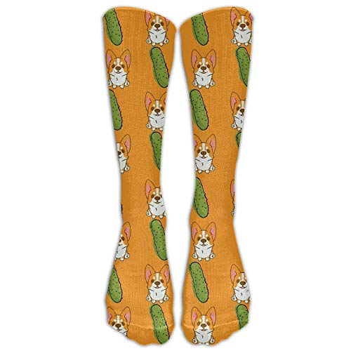 Gped Kniestrümpfe,Socken Corgi and Cucumber Compression Socks Soccer Socks High Socks Long Socks Best for Running,Medical,Athletic,Diabetic,Varicose Veins,Travel,Pregnancy,Nursing