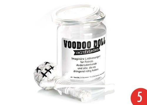 5er-Pack: Voodoo Doll in Dose +++ LUSTIG von modern times +++ WELTFRIEDEN - VOODOO-DOLL +++ I LOVE GIFTS