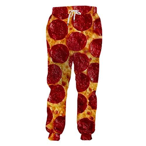Jogger Hosen Männer Lange Lose 3D Casual Hosen Gedruckt Red Pizza Hip Hop Große Größe Kleidung Männlichen Herbst Sweatpants Homme Red Pizza M (Rock Star Kostüm Männliche)