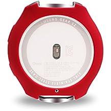 Samsung Gear S2 R720 R730 Cubierta, BeneStellar Band Cubierta para Samsung Gear S2 R720 R730 Slim diseñador manga protectores Accesorios (Rojo)