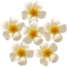 Dotters Plumeria Artificial de Espuma, 50 Unidades, Flores de Goma, Frangipani, Decoración