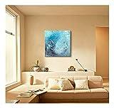 XIAOXINYUAN 100% Handgemalt Abstrakt Blau Öl Malerei Moderne Kunstwerke An Den Wänden Bilder Für Wohnzimmer Home Decoration 60 × 60 cm