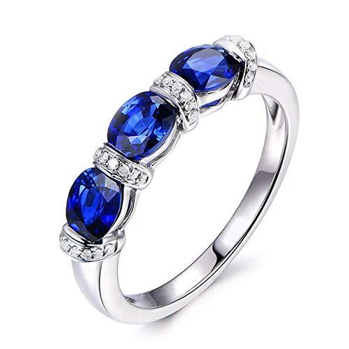 Anello fidanzamento donna argento 925 blu zirconi anello solitario modello valentino misura 13