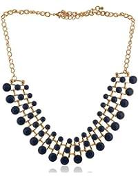 FIREFLIES Blue Metal Choker Necklace For Women (FFNP 08)