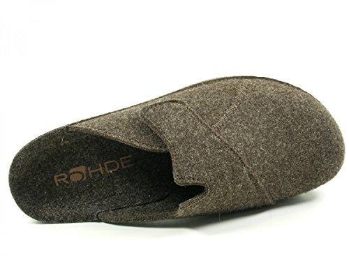 Rohde 2768 Neustadt-H Herren Schuhe Hausschuhe Pantoffeln Braun