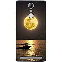 Printfidaa Lenovo K5 Note, Lenovo Vibe K5 Note Pro Back Cover Romantic Ride On Boat in Full Moon Printed Designer Back Case