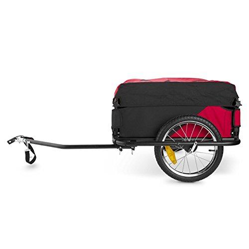 DURAMAXX Mountee • Fahrradanhänger • Lastenanhänger • Handwagen • mit Hochdeichsel • Transportbox mit 130 Liter Volumen • Tragkraft: max. 60 kg • Kugel-Kupplung für Fahrräder mit 26'' - 28'' • pulverbeschichteter Stahlrohrrahmen • rot - 4