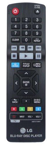 Fernbedienung für LG BP450 3D Blu ray Player with Smart and Wi-Fi - Mit zwei 121AV AAA Batterien enthalten (Lg Blu-ray Mit Wifi)
