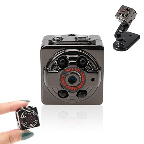 Freebily Mini Kamera Full HD 1080P Nachtsicht DVR Videokamera SQ8 Mini DV Camera 12 Million Pixel überwachungskamera mit Bewegungs Abfragung + Infrarot Nachtsicht für Büro Garten Dvr Surveillance System