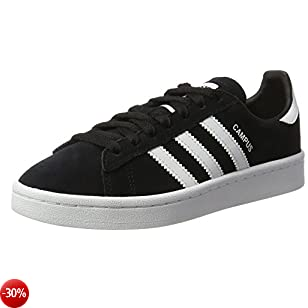 adidas Campus J, Scarpe da Fitness Unisex - Bambini, Nero (Negbas/Ftwbla 000), 37 1/3 EU