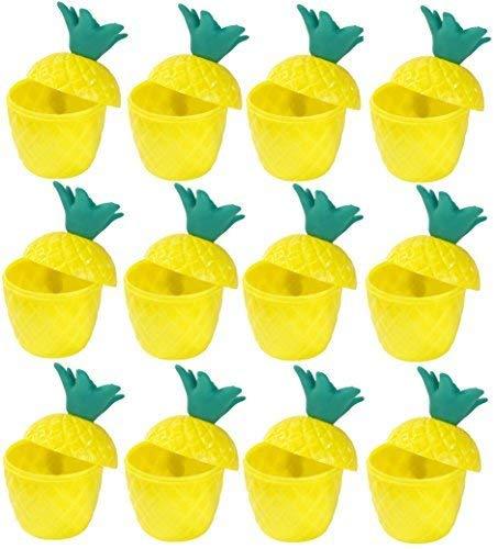 i Tropische Luau Tiki Plastik Party Ananas Punch Trinkbecher ()
