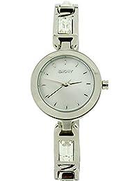 DKNY DKNY8617 - Reloj para mujeres, correa de acero inoxidable color plateado