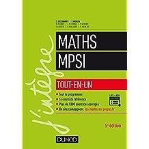 Mathématiques MPSI - Tout-en-un - 5e éd.